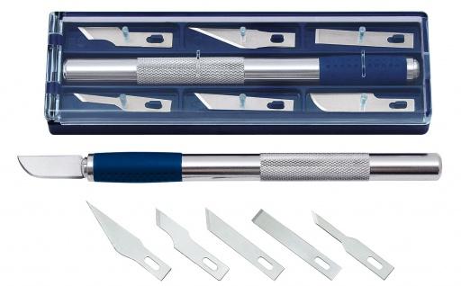 WEDO Bastelmesser mit Softgriff 6 Ersatzklingen verschiedenen Formen