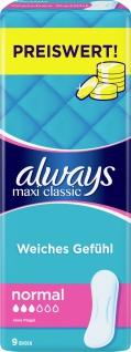 Always Damenbinden Maxi Classic 9 Stück dermatologisch getestet