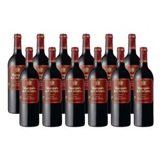 Bodegas Marqués de Cáceres Rioja Crianza Spanischer Rotwein 9000ml, 12er Pack