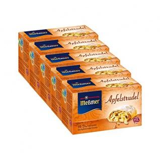 Meßmer Apfelstrudel Früchtetee 18 einzelne Teebeutel 41g 5er Pack