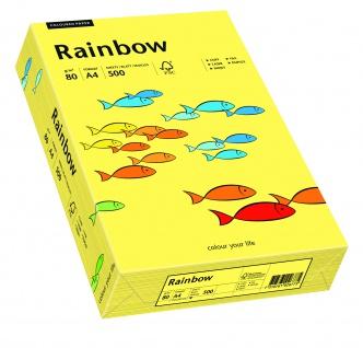 Kopierpapier Rainbow gelb DIN A4 80g