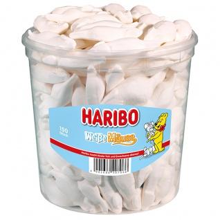 Haribo Schaumzucker Weisse Mäuse mit Saftorangen Geschmack 1050g