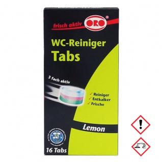 ORO fresh WC Reiniger Tabs Grundreiniger für WC Abfluss 16 Tabs