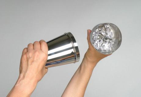 Cocktail Shaker 3tlg. edelstahl 18/8