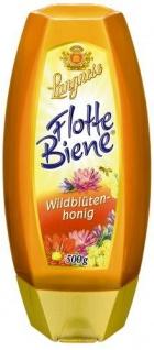 Langnese Flotte Biene Wildblütenhonig mit goldener Farbe 500g 4er Pack