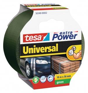Tesa extra Power Universal Band Folien Klebeband Grün 10m x 50mm