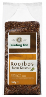 Bünting Tee Rooibos Sahne Karamell Rotbuschtee karamellig süss 200g