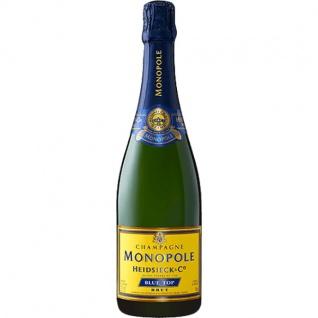 Champagner Heidsieck Brut Blue Top Metalldose oder Geschenkpackung 750ml