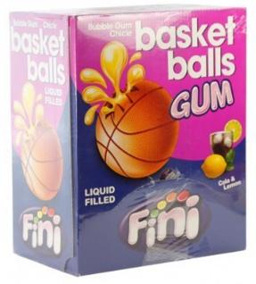 Basket Balls Boom Bubble Gum gefüllt mit Cola Lemon 200 Stück Display