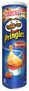 Pringles Ketschup Stapelchips Tomaten Ketchup Geschmack 200g 4er Pack