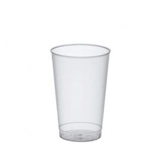 Trinkbecher Transparent Polystyrol 300 ml von Papstar 25 Stück