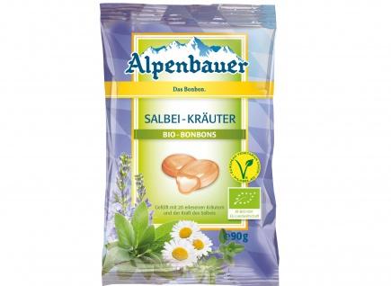 Alpenbauer Bio Salbei Kräuter Bonbons wilder Salbei Laktosefrei 90g
