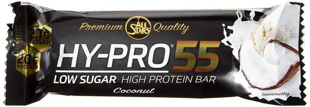 AllStars Hy Pro 55 Bar Cocos Low Sugar und High Protein Bar 55g