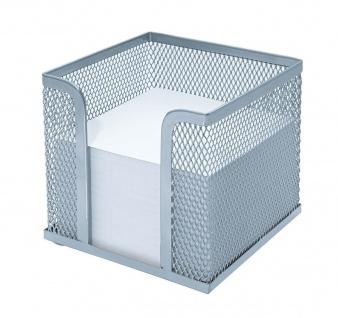 WEDO Zettelbox Office Drahtmetall inklusive Papier 92 x 92mm Silber