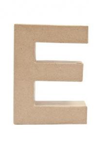 """Pappmache Buchstabe """" E"""" stehend zum basteln kreativ Rico Design Idee"""