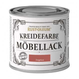 Rust Oleum Shabby Kreidefarbe Möbellack Ziegelrot mattes Finish 125ml
