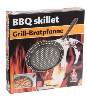 Edco Grill Bratpfanne 32cm antihaftbeschichtete Grillpfanne