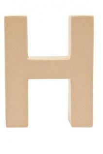 """Pappmache Buchstabe """" H"""" stehend zum basteln kreativ Rico Design Idee"""