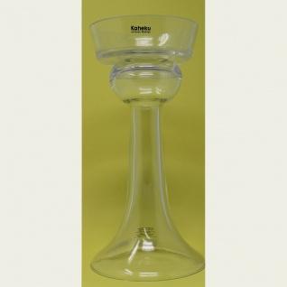 Kerzenleuchter oder Stumpenkerzenhalter aus Glas die Höhe 30cm