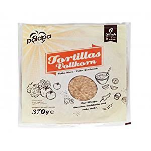 Palapa Vollkorntortilla frisch 25cm für Fajitas und Soft Tacos 370g