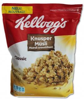 Kelloggs Crunchy Müsli Classic knusprige Cerealien Knuspermüsli 500g