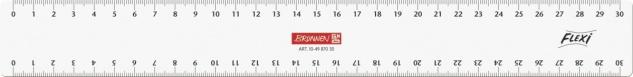 Baier und Schneider Lineal Zeichenlinial Flexi glasklar 30cm