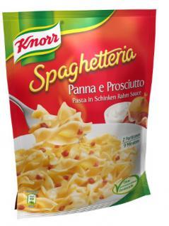 Knorr Spaghetteria Panna e prosciutto Pasta in Schinken Rahm Sauce, 3er Pack (3 x 500 ml)