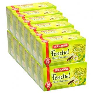 Teekanne Fenchel Anis Kümmel aromatisch und würzig 12er Pack