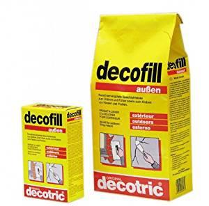 Decotric Decofill Außenspachtel, witterungs- und wasserbeständig 1000g