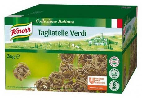 Knorr Tagliatelle verdi grüne Bandnudeln mit Spinatpulver 3000g