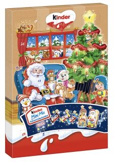 Kinder Mini Mix Adventskalender mit 24 Stück Milchschokoladen 152g