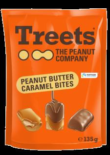 Treets the Peanut Company Peanut Butter Caramel Bites Snack 135g