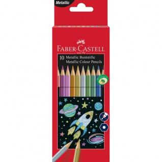 Faber Castell Colour Pencils Buntstifte Farbstifte Metallic 10er Etui