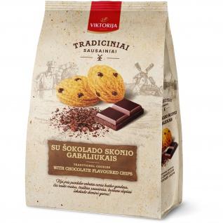 UAB Viktorija - Kekse mit Stückchen in Schokoladengeschmack 250g