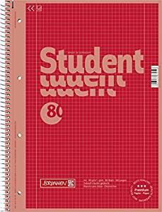 Collegeblock red DIN A4 Lineatur 28