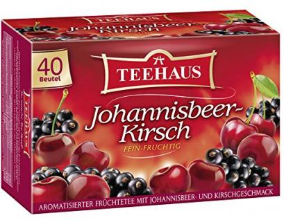Teehaus Johannisbeer Kirsch Früchtetee fein fruchtig 3er Pack