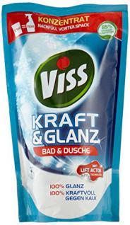 Viss Kraft & Glanz Reiniger Nachfüllbeutel Bad & Dusche, 5er-Pack (5 x 375 ml) - Vorschau