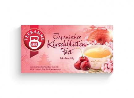 Teekanne Japanisches Kirschblütenfest Ländertee 30g 12er Pack