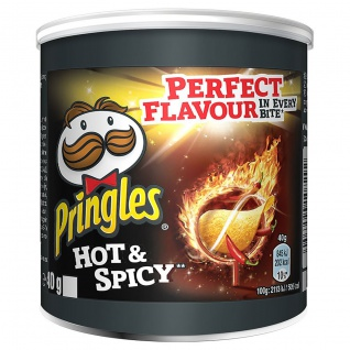 Pringles Hot and Spicy Flavour Snack würzig scharf 40g 3er Pack