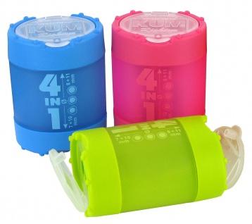 KUM Dosenspitzer 4 in 1 Klick Klack Spitzer Oval aus Kunststoff