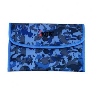 iKON Schüleretui Pencil Bag Blue Camouflage 004 schnell griffbereit