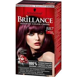 Schwarzkopf Brillance Intensive-Color-Creme/ 887 Mahagoni Satin/ Permanente Haarfarbe/ Coloration/ Stufe 3