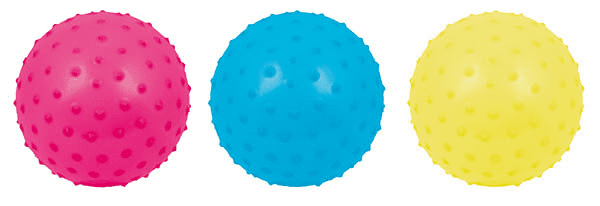 Masageball Knobby Vinyl Igelball farblich sortiert bunt 13cm