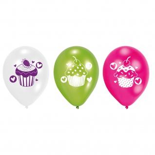 Amscan Europe 6 Luftballons Cupcake Für Geburtstage und Feste