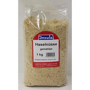 Haselnüsse gemahlen verfeinert von Insula zum Kochen und Backen 1000g