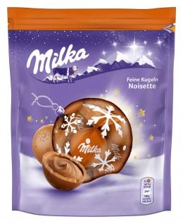 Milka Feine Kugeln Alpenmilchschokolade mit Noisette Füllung 90g