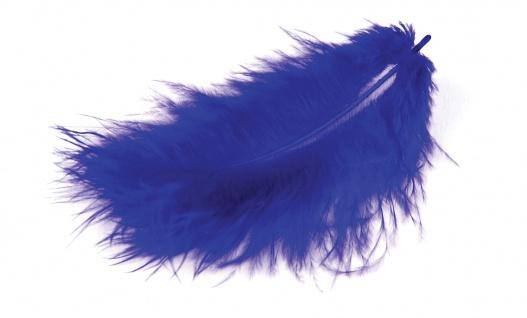 Marabufedern blau 10/12 cm