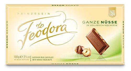 Feodora Tradition Vollmilch Hochfein Schokolade Ganze Nüsse 100g