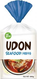 ALLGROO U-Dong Nudeln, Meeresfrüchte, 2er Pack (2 x 690 g)