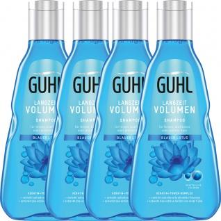 Guhl Langzeit Volumen Shampoo Blauer Lotus Keratin 250ml 4er Pack